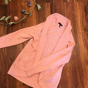 Kenneth Cole Pink Open Knit Cardigan